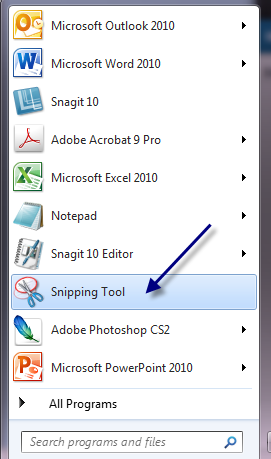 how-to-open-snipping-tool-in-windows-7